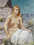 St. Mary Magdalene, 1897 (oil on canvas) Postcards, Greetings Cards, Art Prints, Canvas, Framed Pictures & Wall Art by Pierre Puvis de Chavannes