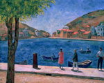 The Bay of Balaklava, 1927 (oil on canvas) Wall Art & Canvas Prints by English School