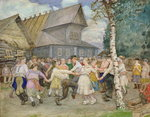 Country Dance, 1917-22 (w/c on paper) Fine Art Print by Judy Joel