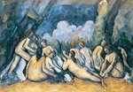 The Large Bathers, c.1900-05 (oil on canvas) Wall Art & Canvas Prints by Paul Cezanne