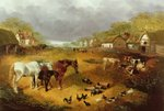 A farmyard in Spring, 19th century Postcards, Greetings Cards, Art Prints, Canvas, Framed Pictures & Wall Art by Carl Donner