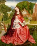 Virgin and Child in a Garden Fine Art Print by Leonardo Da Vinci