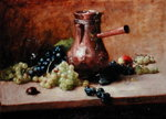 Still Life with Grapes, 1881 (oil on canvas) Wall Art & Canvas Prints by James Gillick