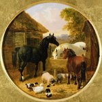 Farmyard Scene Wall Art & Canvas Prints by John Frederick Herring Snr