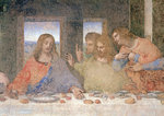 The Last Supper, 1495-97 (fresco) (post restoration) Wall Art & Canvas Prints by Leonardo da Vinci