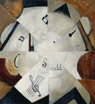Symphony, 1915 (oil on canvas) Wall Art & Canvas Prints by Juan Gris