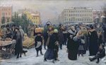 Christmas Fair (oil on canvas) Wall Art & Canvas Prints by Mexican School