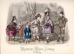 Children at Play, fashion plate from the 'Allgemeine Moden-Zeitung', Leipzig, 1872 Fine Art Print by Lavinia Hamer