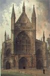 Winchester Cathedral: view of the West front (watercolour) Wall Art & Canvas Prints by John Buckler