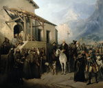 Field-marshal Alexander Suvorov on the St Gothard summit, 13th September 1799, 1855 Fine Art Print by Harry John Johnson