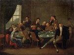 The Gambling House (oil on canvas)