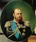 Emperor Alexander III (1845-94) (oil on canvas) Fine Art Print by Victor Mikhailovich Vasnetsov
