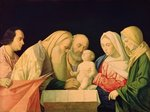The Circumcision (oil on canvas) Wall Art & Canvas Prints by Il Sassoferrato