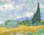 Wheatfield with Cypresses, 1889 Fine Art Print by Alfred Sisley