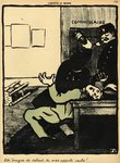 A policeman hits a man with a bottle in a police station, from 'Crimes and Punishments', special edition of 'L'Assiette au Beurre', 1st March 1902 (colour litho) Fine Art Print by Felix Edouard Vallotton