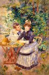 In the Garden, 1885 (oil on canvas) Fine Art Print by Pierre-Auguste Renoir
