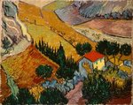 Landscape with House and Ploughman, 1889 Fine Art Print by Paul Gauguin