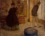 Interior with Two Figures, 1869 (oil on canvas) Fine Art Print by Pierre-Auguste Renoir