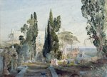 The Villa d'Este, 19th century (watercolour on paper) Fine Art Print by John Buckler
