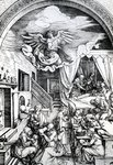 The Birth of the Virgin, from the Cycle of the Life of the Virgin, 1511 (woodcut on paper) Wall Art & Canvas Prints by Dante Gabriel Rossetti
