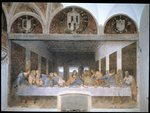 The Last Supper, 1495-97 (fresco) (post restoration) Wall Art & Canvas Prints by Jean Alexandre Joseph Falguiere