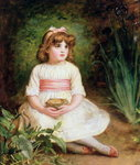 The Nest (oil on canvas) Postcards, Greetings Cards, Art Prints, Canvas, Framed Pictures, T-shirts & Wall Art by Sir John Everett Millais