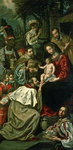 The Adoration of the Magi, 1620 (oil on canvas) Fine Art Print by Andrea Casali