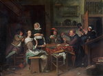 The Card Players Fine Art Print by P.J. Crook