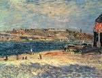 River Banks at Saint-Mammes, 1884 Fine Art Print by Paul Signac