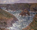 Port Domois at Belle Ile, 1886 Postcards, Greetings Cards, Art Prints, Canvas, Framed Pictures, T-shirts & Wall Art by Claude Monet