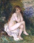 The Naiad, 1876 Wall Art & Canvas Prints by Pierre-Auguste Renoir