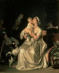 Motherhood, 1805 Fine Art Print by Eugene Carriere