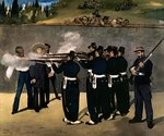The Execution of the Emperor Maximilian, 1867-8 Fine Art Print by Claude Monet