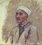 A Siberian Tartar, sketch for 'Yermak Conquers Siberia', 1894 (oil on canvas)