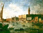 The Doge's Palace and the Molo from the Basin of San Marco, Venice, c.1770 (oil on canvas) Wall Art & Canvas Prints by Timothy Easton