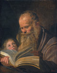 Saint Matthew, c.1625 (oil on canvas) Fine Art Print by Anonymous