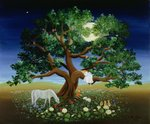 Tree of Dreams, 1994 (oil on canvas) Wall Art & Canvas Prints by Simon Cook
