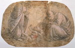 Study for the Adoration of the child Fine Art Print by Martin Schongauer