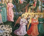 Angels in a heavenly landscape, the left hand wall of the apse, from the Journey of the Magi cycle in the chapel, c.1460 Wall Art & Canvas Prints by Benozzo di Lese di Sandro Gozzoli