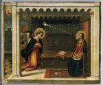 The Annunciation (tempera on copper) Wall Art & Canvas Prints by Bartolomeo Passarotti