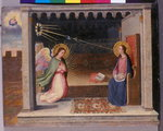 The Annunciation, c.1500 (tempera on wood) Wall Art & Canvas Prints by Bartolomeo Passarotti
