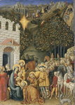 The Adoration of the Magi, c.1475-80 (tempera on wood) Wall Art & Canvas Prints by Il Sassoferrato