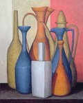 Composition of vessels, varying tones Fine Art Print by James Gillick