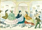 Fashions of 1861 Fine Art Print by French School