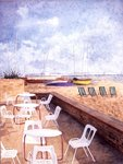 Brighton, Off Season (mixed media on paper) Wall Art & Canvas Prints by Carl Morgenstern