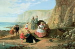 A Day at the Seaside Fine Art Print by Louis Leopold Boilly