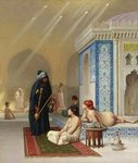 Pool in a Harem, c.1876 Wall Art & Canvas Prints by Ferdinand Victor Eugene Delacroix