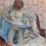 After the Bath, 1884 Poster Art Print by Pierre-Auguste Renoir