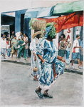 Street Dance, 2002 (w/c on paper) Wall Art & Canvas Prints by Vicente Alban