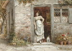 Waiting for the Post Fine Art Print by Sir Lawrence Alma-Tadema